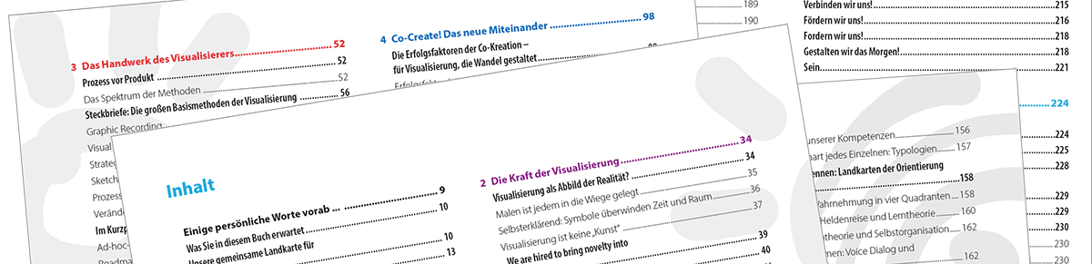 Inhaltsseiten Das Visualisierungs-Buch